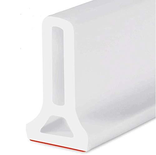 ColorJoy 100cm Duschwasserdamm Faltbare Self-Adhesive Duschschwelle Badezimmer Wasserstopper Wasserdamm Wasserdichtes Duschsperr Rückhaltesystem, hält das Wasser innerhalb der Schwelle