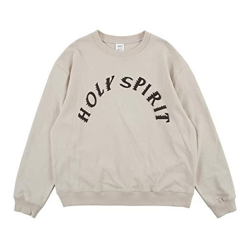 NAGRI Kanye Holy Spirit Logo Sweatshirt, Beige, L