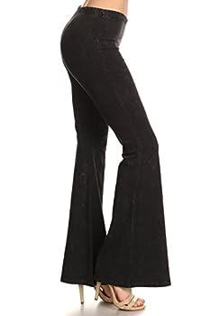 Zoozie LA Women s Bell Bottoms Yoga Stretch Pants Tie Dye Black 2X Also fits 3X