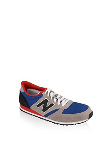 New Balance Unisex-Erwachsene U420 D Sportschuh, grau/blau/rot, 42.5 EU