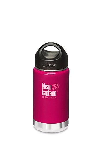 Klean Kanteen 12 oz Wide Insulated mit Loop Cap - 355ml Thermosflasche, Farbe:Wild Raspberry, Größe:0.355 Liter