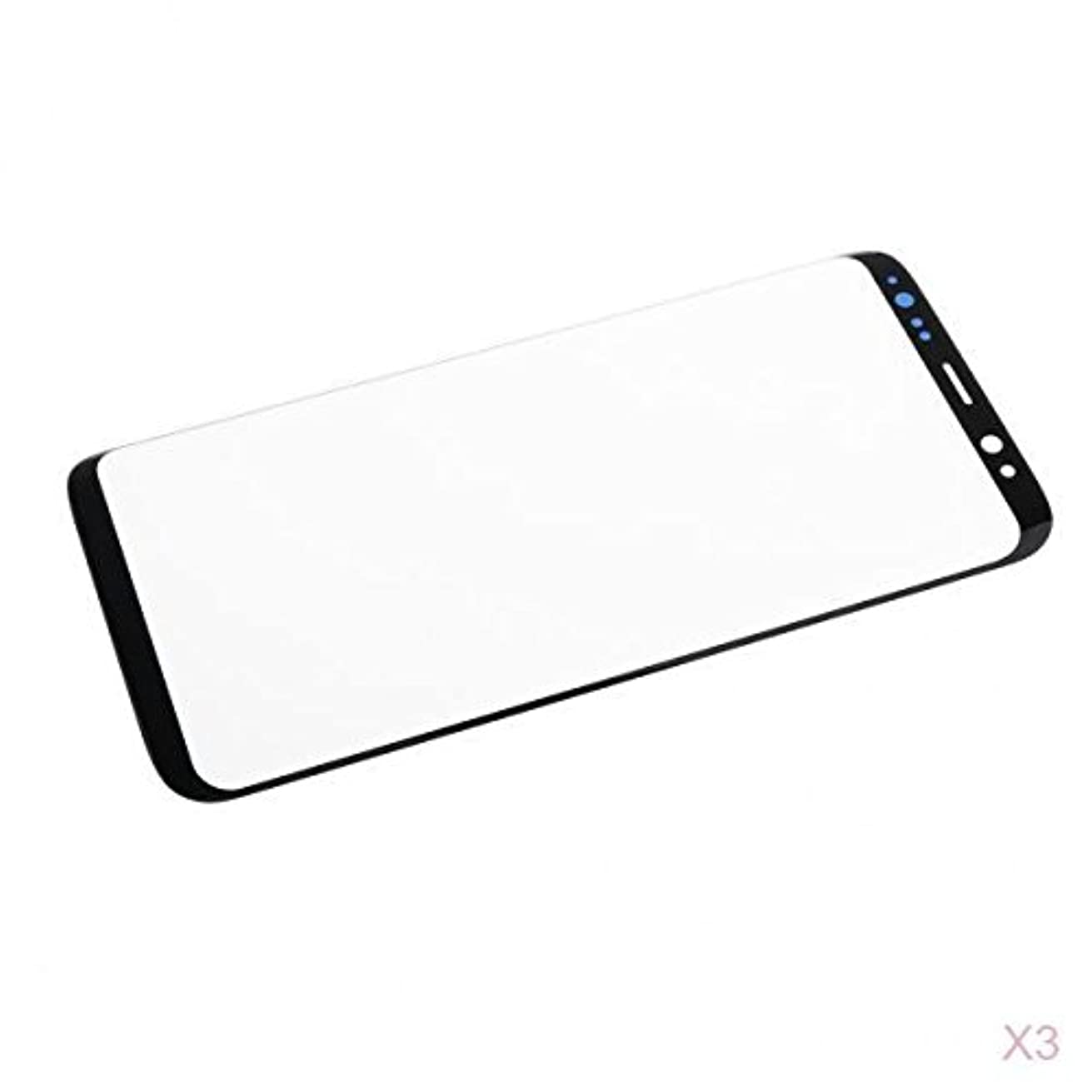Homyl For Samsung Galaxy S8,3 Pieces Pre-installed LCD Touch Screen Lens Front Glass Outer Lens Cover Black Replacement Repair Part