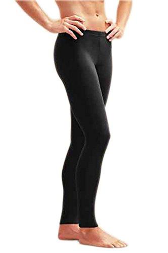 Schwimm Leggings Damen UV Schutz Schwimmhose Hose Bademode , Farbe-Klassisch Schwarz - L