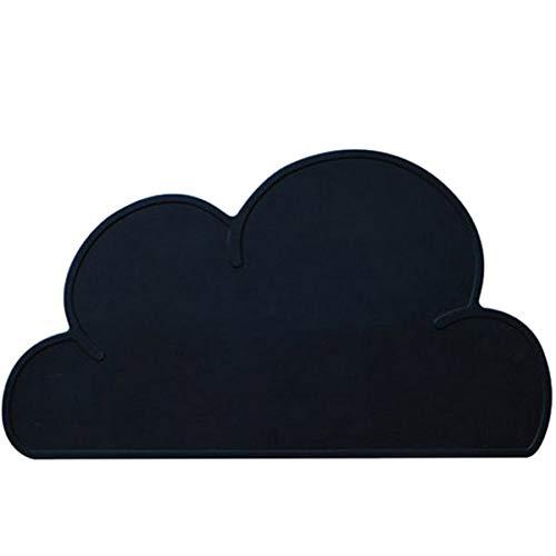 qwert Wolke Geformte Silikonmatte Isoliermatte Wasserdicht rutschfest Und Leicht Zu Reinigen,schwarz