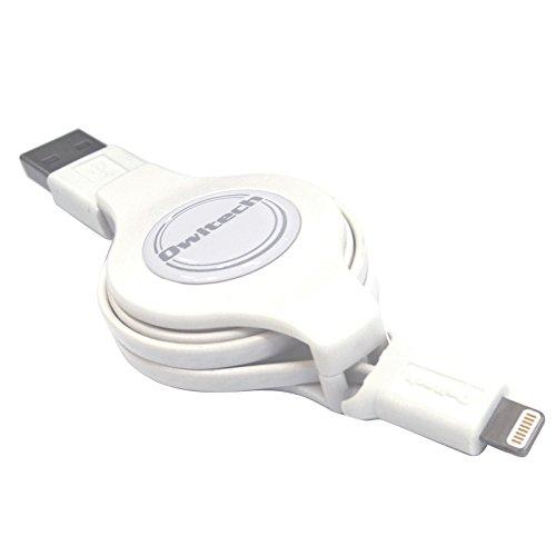 オウルテック 巻取り式 ライトニングケーブル Apple認証 急速 iphone 充電ケーブル ホワイト 1m