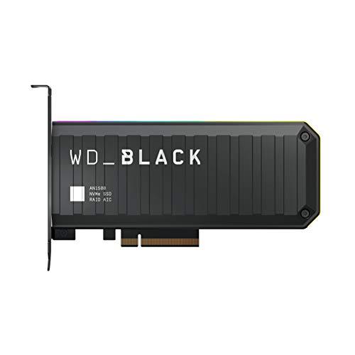 SSD WD_BLACK AN1500 4 TB NVMe con scheda aggiuntiva, velocità di lettura fino a 6.500 MB/s e di scrittura fino a 4.100 MB/s
