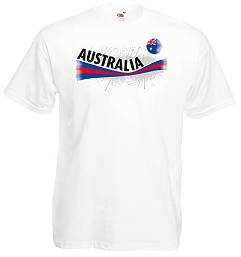 Fruit of The Loom Australien Herren T-Shirt Australia Vintage Trikot w-M