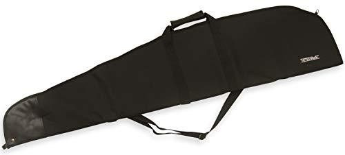 Nitehawk - Breite Tasche für Flinten & Luftgewehre - gepolstert - mit abnehmbarem Schultergurt - strapazierfähiges 600D-Material - Schwarz
