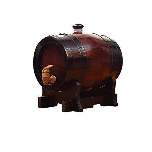 Eiken vaten, Wijntentoonstelling Props, Linerless Beer Casks, Horizontale Zwart-Rood, Voor Tafelinstelling, Thuis Accent, Kan Bewaar Geesten, Witte Wijn, Whiskey Vintage (5L)