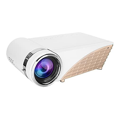 Mini Proiettore WiFi, Portatile Videoproiettore Schermo 1080P FHD 200' Supportato, Mini da Esterno Proiettore di Film per Computer Portatili Smartphone Tavoletta USB Vga Av, Luce LED Morbida(EU)