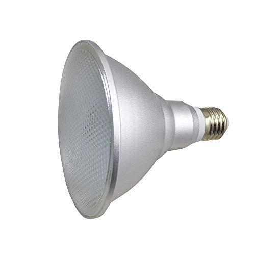 Bombilla LED E27 Base PAR38 15W, IP65 a prueba de agua, 150W equivalente a halógeno, 85-265V, Proyector de ángulo de haz de 120 °, Caja de aluminio, Reflector CRI 90, Paquete 1 (Blanco)