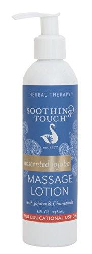 Soothing Touch Jojoba Massage Lotion, Unscented, 8 Ounce