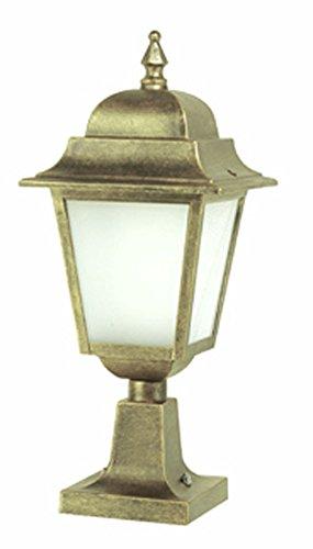 NIZ312 - buitenverlichting van aluminium met sokkel - zwart/goud (NO) - verkrijgbaar in andere kleuren - Geproduceerd in Italië door Valastrolighting