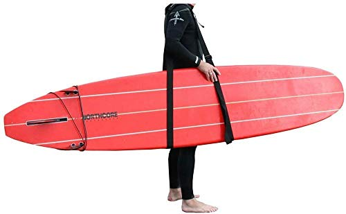Northcore Sup and Surfboard Carry Sling Tabla flotadora, Adultos Unisex, Negro (Negro), Talla Única
