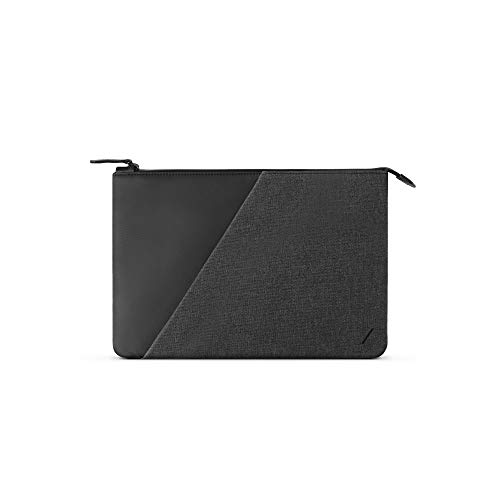"""Native Union Stow Sleeve 12"""" – Sleek & Slim Premium Sleeve with Waterproof Zipper & External Quick-Access Pocket – Compatible with MacBook 12"""", iPad Pro 11"""", Microsoft Surface Go & More (Slate)"""