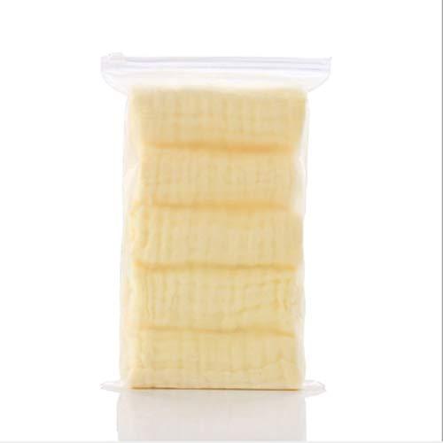 HENGYUSM Toalla de baño de algodón Muselina 6 Capas Toallas de bebé Suaves de algodón Toalla de Cara de bebéPañueloToalla dealimentación de baño