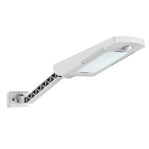 Baalaa Luz de calle solar al aire libre, 48 LEDs 600LM Auto On/Off Atardecer al Amanecer con sensor de movimiento PIR para estacionamiento, patio, jardín B