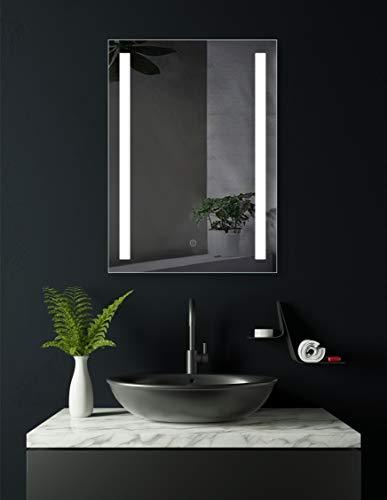HOKO® Badezimmerspiegel mit LED, Lindau 50x70cm, LED Bad Spiegel, Energieklasse A+ (WEEE-Reg. Nr.: DE 40647673)