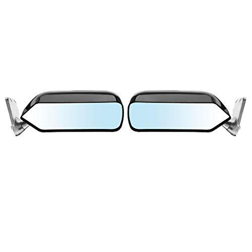 WXWDM Retrovisor Mirror, un par de página de Página Universal Blue Metal Page para Honda para Civic for Ford para Mustang para Audi A4 B8