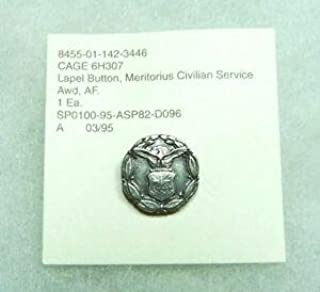 Department of The Air Force Meritorious Civilian Service Award Medal, Lapel pin by HighQ Store