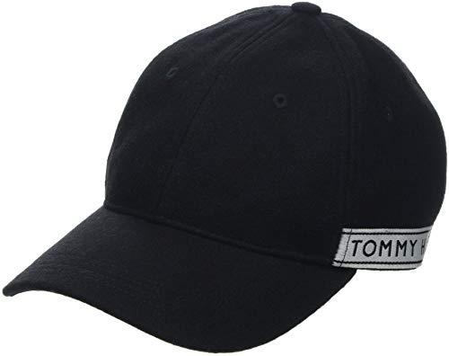 Tommy Hilfiger TH Tape Baseball Cap, Zwart (Black 002), One Size (fabrikantmaat: OS)