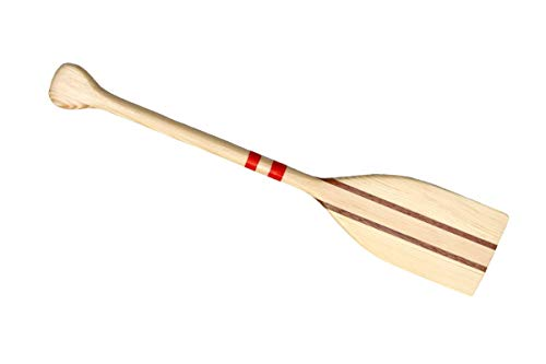 Polport Canoa de madera de pino caoba 30 cm, 300 mm, vela canoa canadiense mini regalo de recuerdo de vela