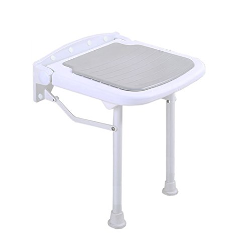 Affordable JHome-Bathing Stool Foldable Wall Shower Seat Stool Aluminum Alloy Bathroom Folding Chair...