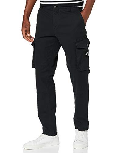 Calvin Klein Skinny Washed Cargo Pant Pantalones, CK Black, 33W / 32L para Hombre
