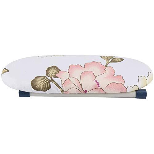 YCX Tisch-Bügelbrett Platzsparend Mini-Bügelbrett Mit Klappbarem Bein, Für Zuhause Reisen Ärmel Manschetten Kragen Falten Pfingstrose,1