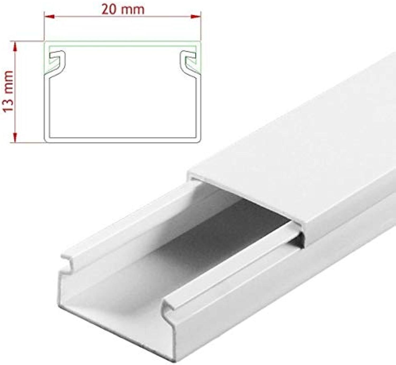 StilBest® 80m Kabelkanal [L x B x H 200x2,0x1,3 cm, PVC, Schraubbar, weiß] Kabeldurchführungssystem   Kabelleiste   Kabelschlauch   Kabelrohr B07PPTKH4D   Sehr gute Farbe