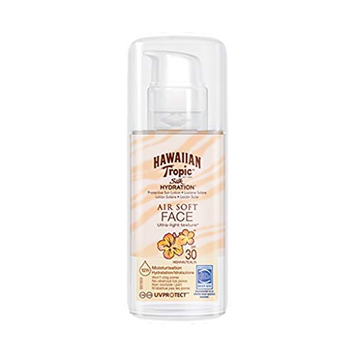 Hawaiian Tropic Silk Hydratation SPF 30 Portective Sun Lotion Air Soft Face 50ml (lot de 2)