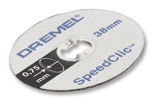 Dremel SC476 SpeedClic Kunststoff-Trennscheiben, Zubehörsatz für Multifunktionswerkzeug mit 5 Trennscheiben 38 mm zum Schneiden von Kunststoffen aller Art