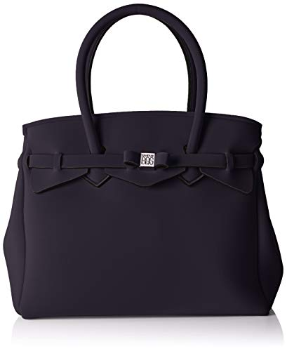 Save My Bag Damen Miss Plus schultertasche, Schwarz (NERO NER), 34x29x18 cm