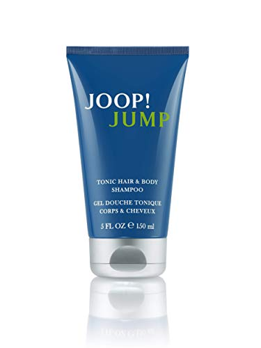 JOOP! Jump Shower Gel for him, Duschgel mit frisch-aromatischem Herrenduft, Tonic Hair and Body Shampoo, 150 ml