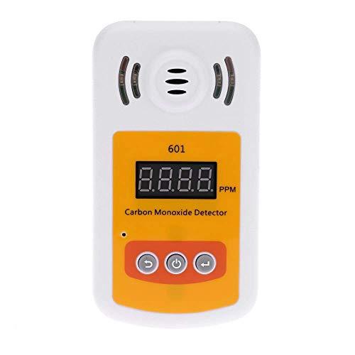 Mini portátil de Monóxido de Carbono Detector de CO medidor de gas con sonido y luz de alarma del detector de escape yqaae