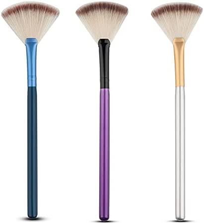 Make Up Brushes Mix Color Makeup Concealor Slim Large-scale Ranking TOP16 sale Shape Powder Fan