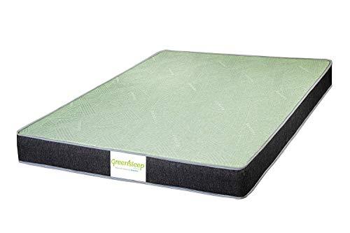 Restolex Greensleep Premium Pocket Spring Mattress 7 inches Single Size - (75 x 36 x 7) Color : Green