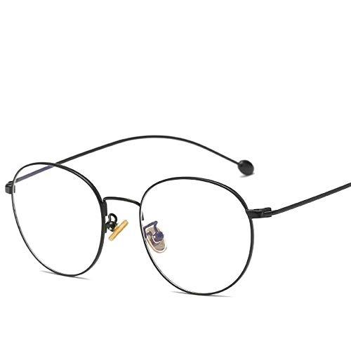 FRGTHYJ Ovale Anti-Blaulicht-Schutzbrille, die Bildschirmbrillen für den Computerschutz Frauen Männer liest, die Vintage Klassische Sonnenbrille schwarz lesen