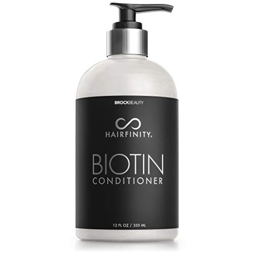 Hairfinity Biotin Conditioner - Sulfate and Silicone Free - Best for Damaged, Dry, Curly or Frizzy Hair - Thickening for Fine/Thin Hair Safe for Color and Keratin Treated Hair