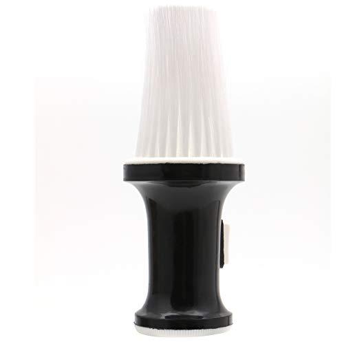 Forgun Puderpinsel für Friseursalon, Kunststoff, nachfüllbar, Weiß / Schwarz