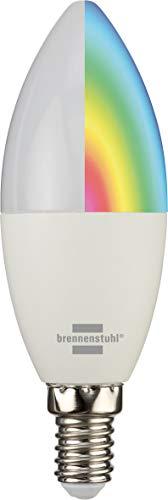 brennenstuhl®Connect bombilla inteligente WiFi SB 400 compatible con Alexa y Google Assistant (iluminación inteligente WiFi, bombilla de enchufe E14, 400 lm, 5,5 W)