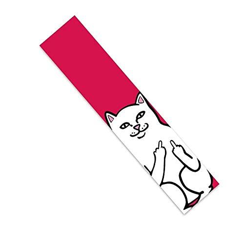 YiShuHua Hoja de Cinta de Agarre para patineta Par de Adhesivos Negros de 25 x 120 cm, Cinta de Agarre para patineta Play, Cinta de Agarre de Scooter Negra, Cinta de Agarre para Longboard (Color : F)