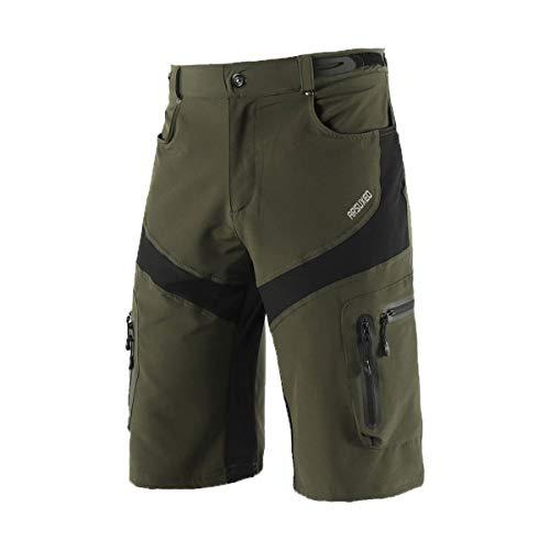 ARSUXEO - Pantalones cortos impermeables para motociclismo, talla M, color verde