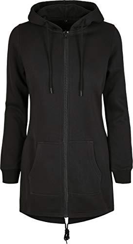 Build Your Brand Zip-Hoody Ladies Sweat Parka Felpa con Cappuccio, Nero, XS Donna