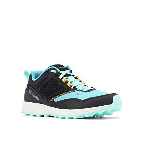 Columbia womens Flow District Sneaker, Cyan Blue/Gulf Stream, 7 US