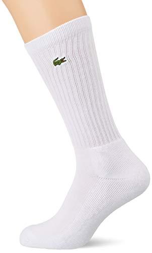 Lacoste Sport Herren RA7621 Socken, Weiß (Blanc/Blanc-Blanc), 41/42 (Herstellergröße: 6) (3er Pack)