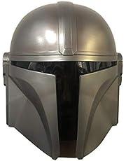 Hinder Halloween masker, full face latex masker, Mandaloriaanse helm Star Wars Deluxe latex masker Halloween partij cosplay prop