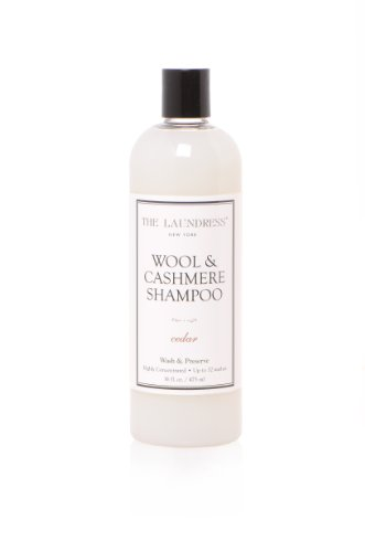 The Laundress - Wool & Cashmere Shampoo, Cedar, Allergen-Free, Wool Detergent, Adds Scent & Removes Odor, Cashmere & Wool Wash Detergent, 16 fl oz, 32 washes