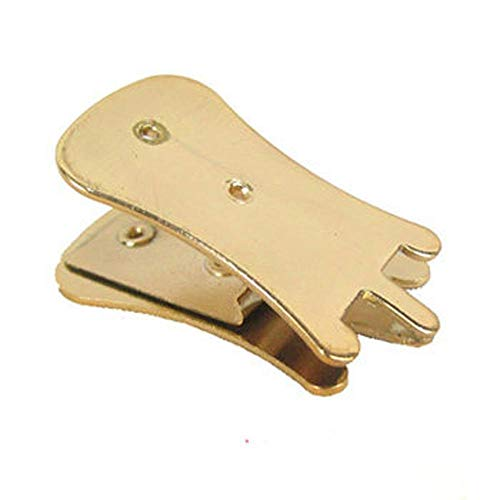 JNT Metall Erhu Zhonghu Mute Finish Erhu Schalldämpfer Schalldämpfer String Teil Saite Instrumente Zubehör Silber/Schwarz/Gold (Farbe : Gold)