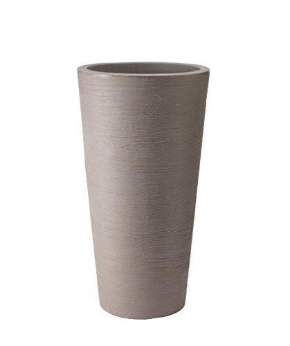 Stewart Varese vaso basso, plastica, Brown, 40 cm